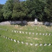 Veduta aerea del Cimitero austro-ungarico di Aurisina