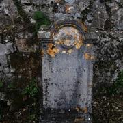 Una delle lapidi nel Cimitero austro-ungarico di Prosecco